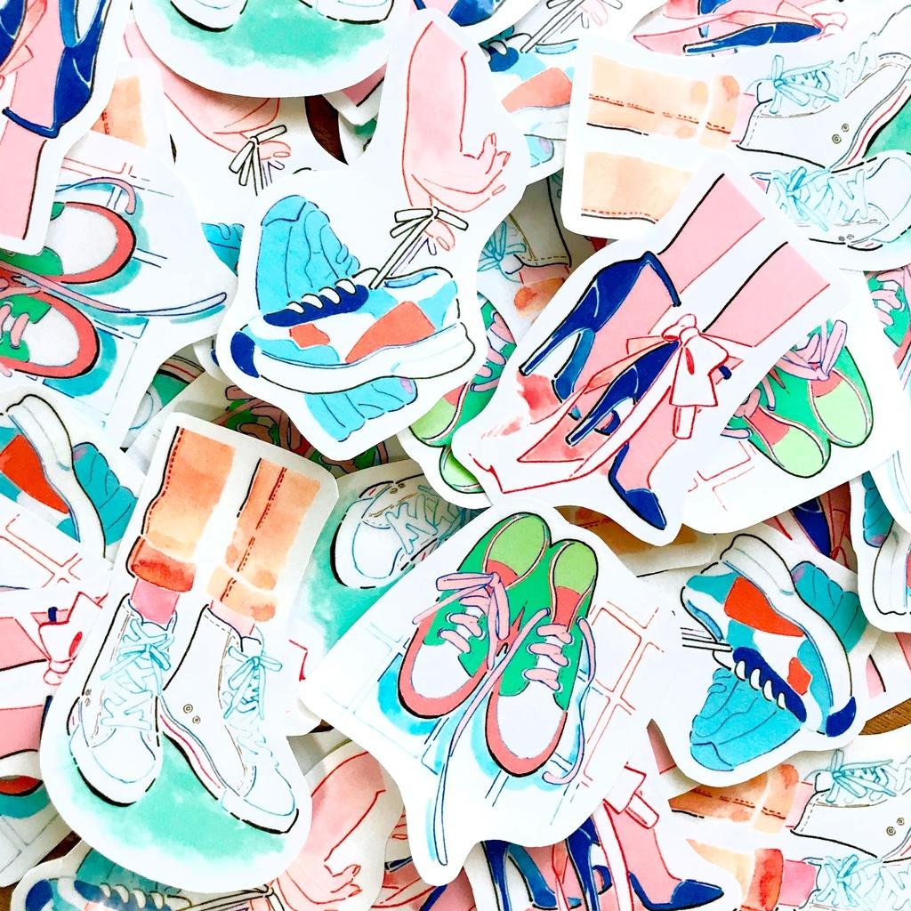 靴のシール(4枚)