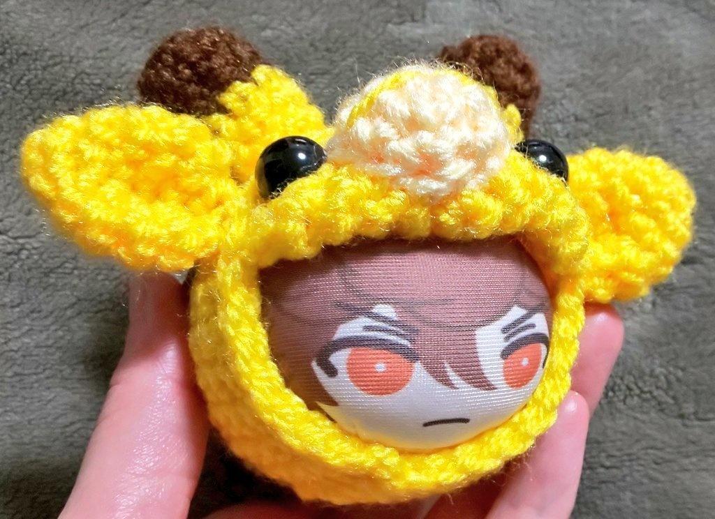 にぎにぎおまんじゅうのサイズ編み着ぐるみ◆きりんさん