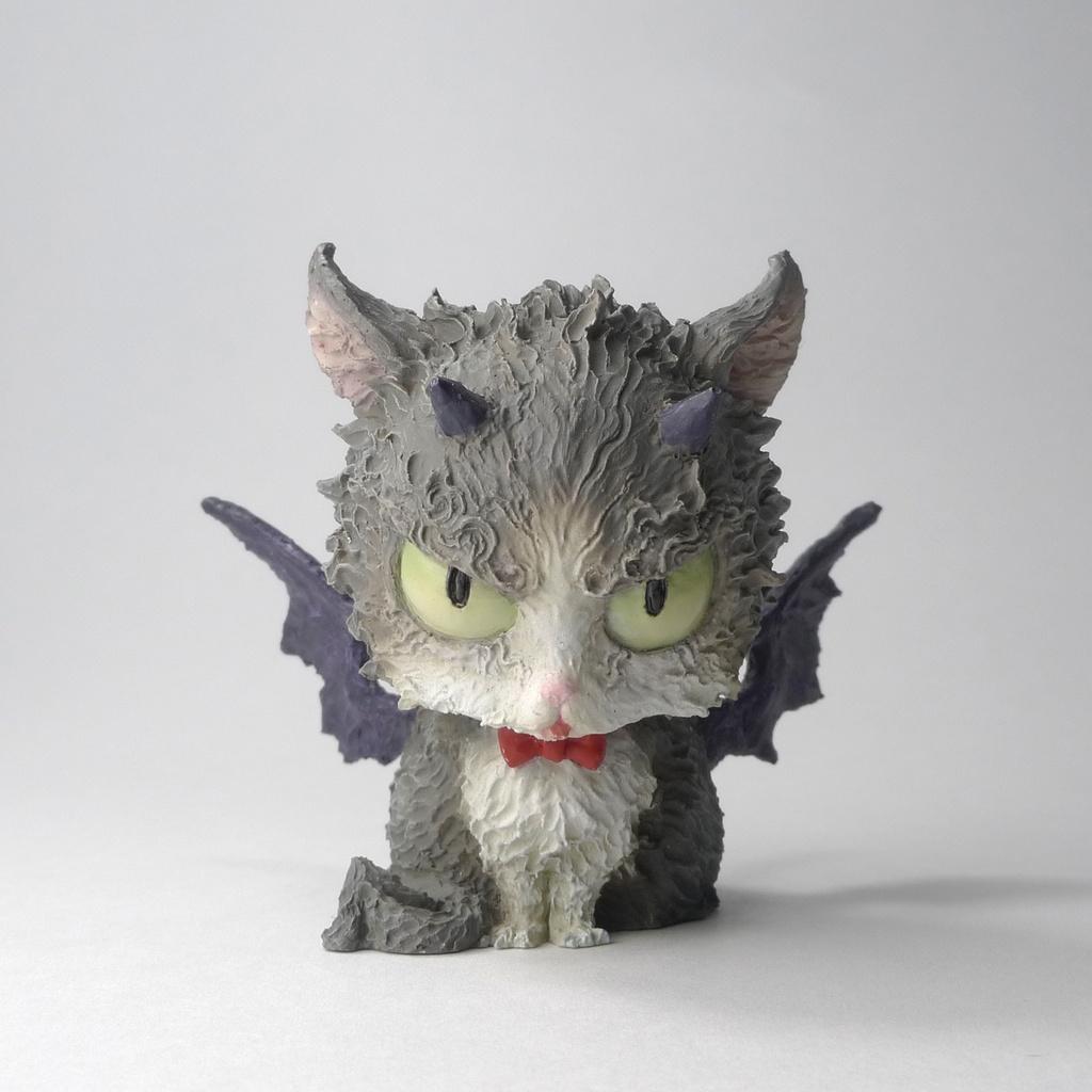 工房仕上げ「アクマネコ02」 Studio-finished pieces [cat devil 02]