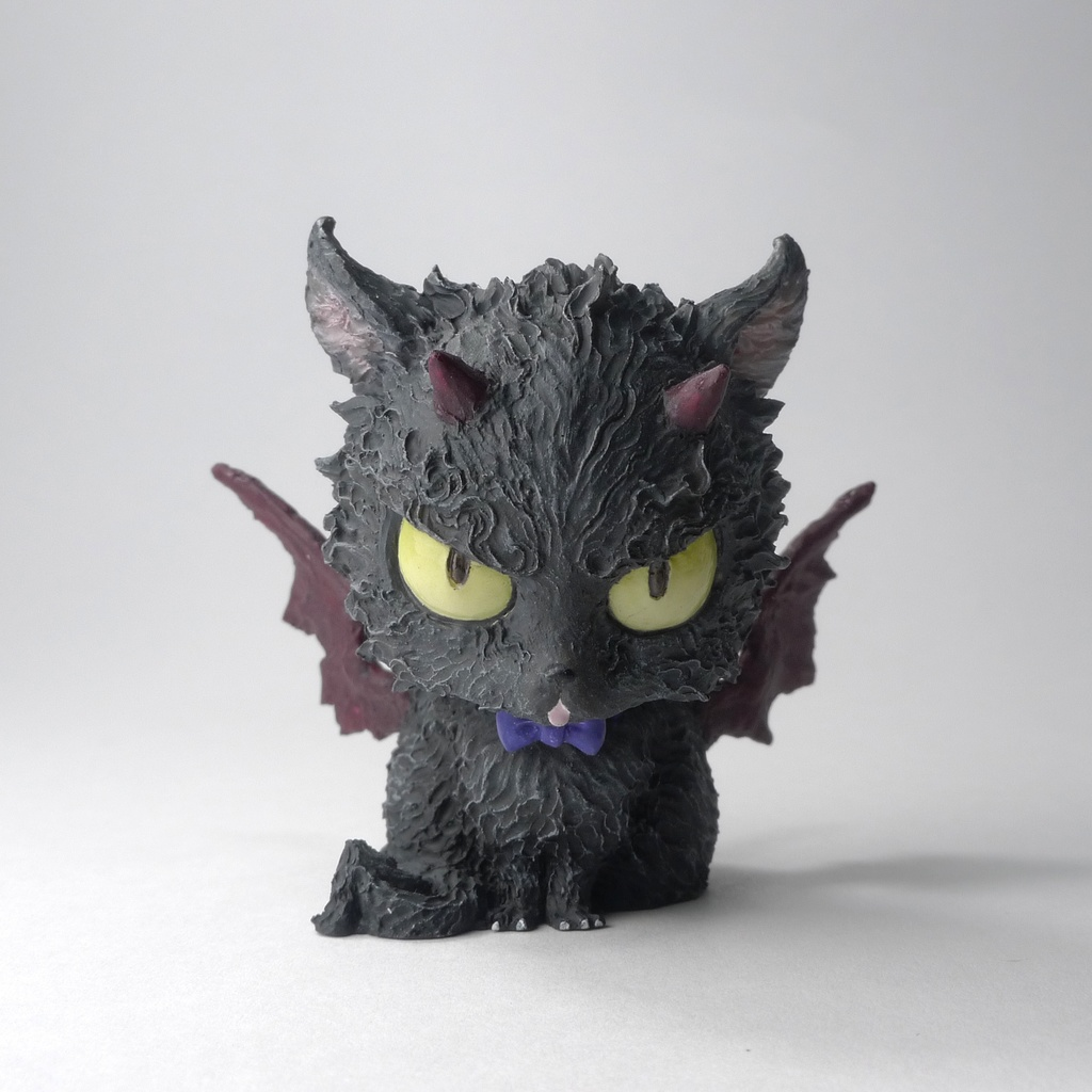 工房仕上げ「アクマネコ03」 Studio-finished pieces [cat devil 03]
