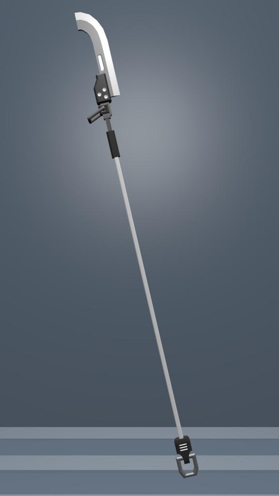 VRChat使用推奨武器モデル「ひにょう偃月刀01」
