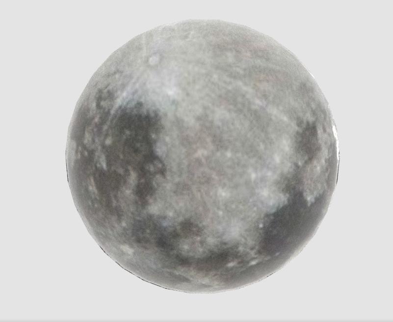 3Dモデル「灰色の月」