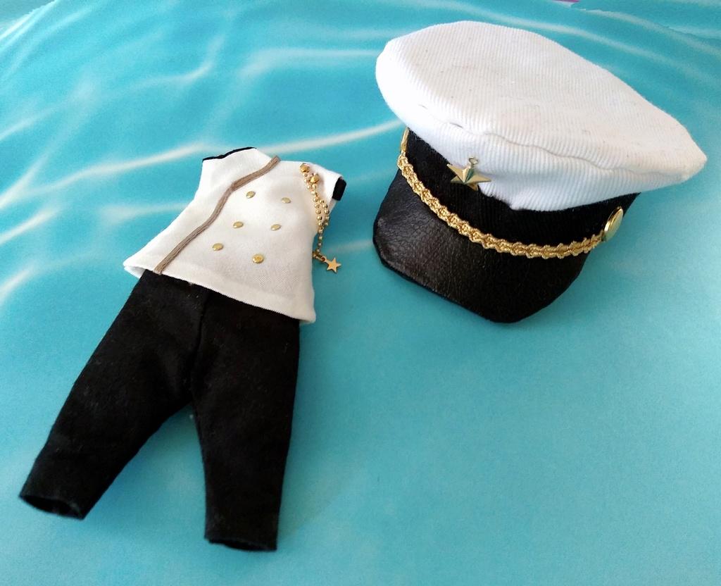 軍服セット (白×黒)
