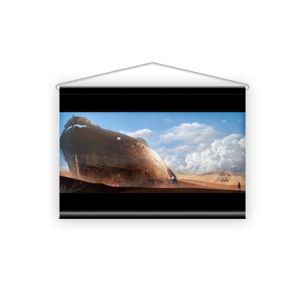 砂漠の廃船