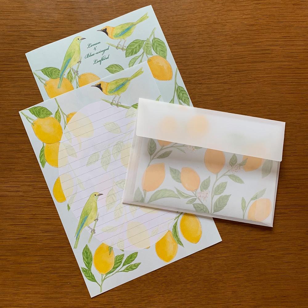 Letter Set レモンと青羽木葉鳥