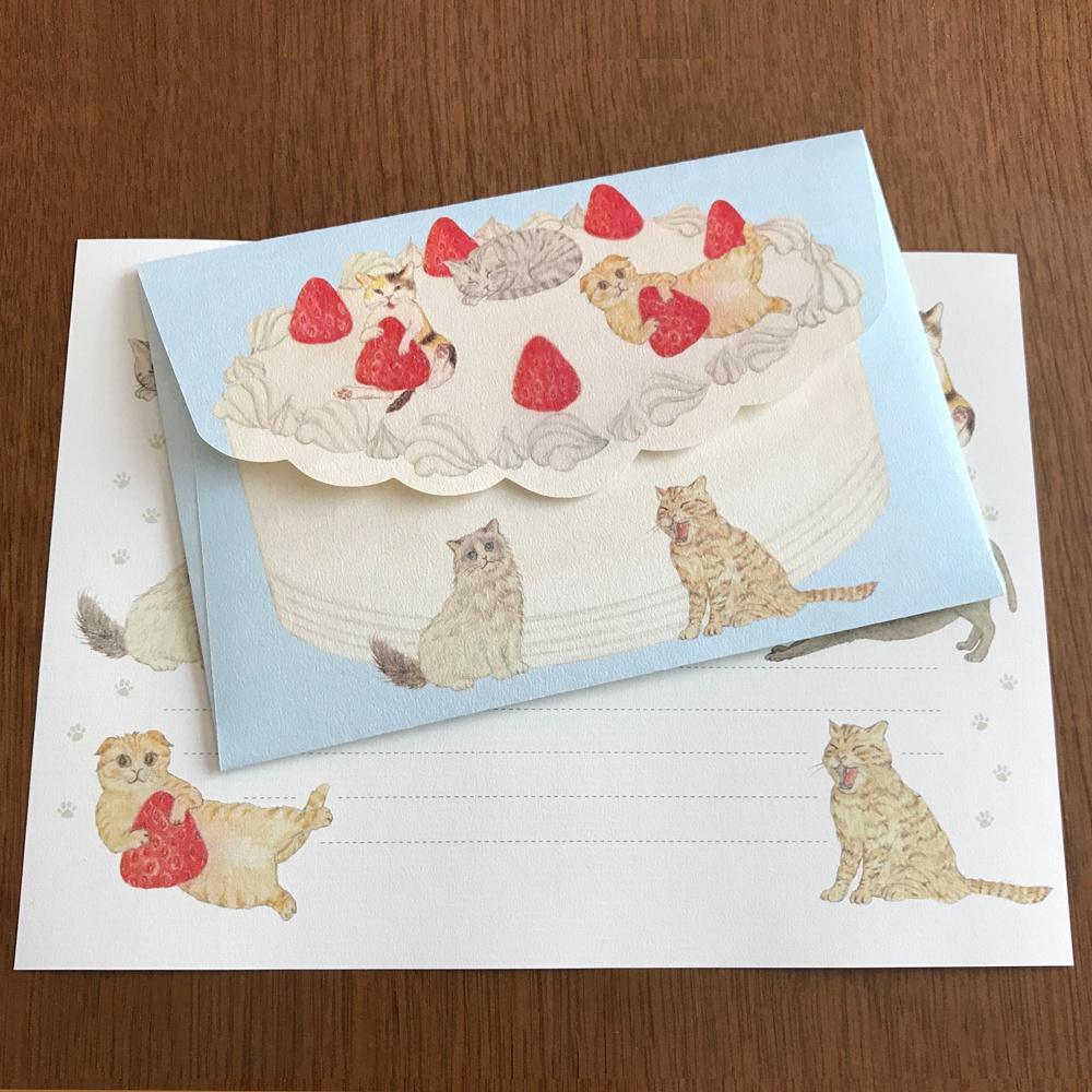 Letter Set Cat Cake