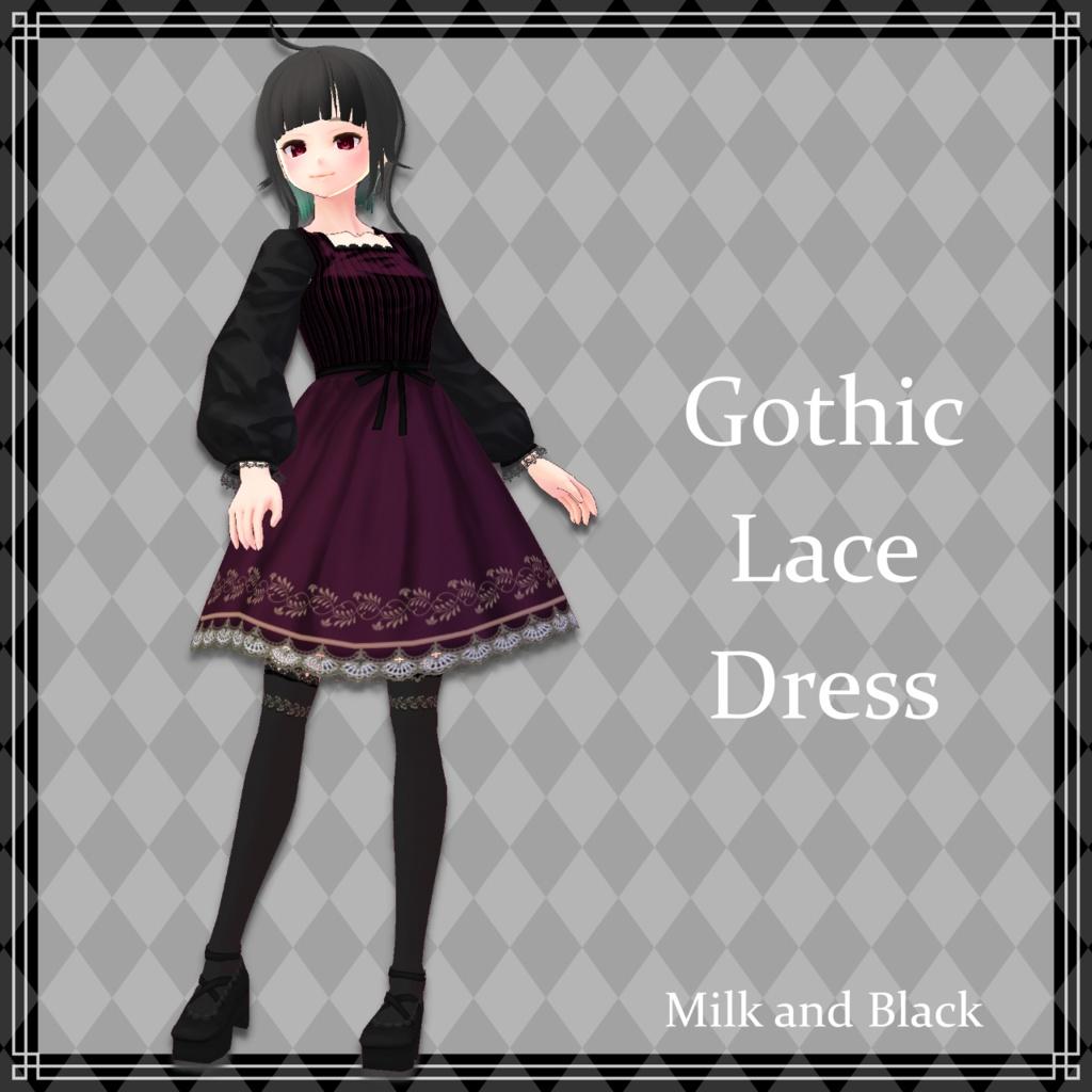 【無料版あり】ゴシックレースドレス【VRoid】