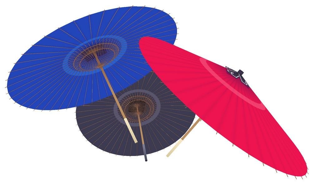 3Dモデル 和傘