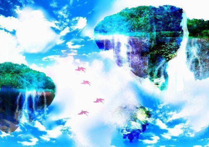 商用可幻想的な風景イラスト作成します幻想的な風景水彩風イラスト