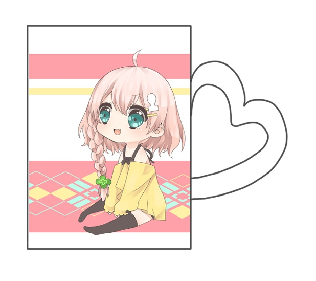 天羽よつは ハート取っ手マグカップ【受注限定販売】