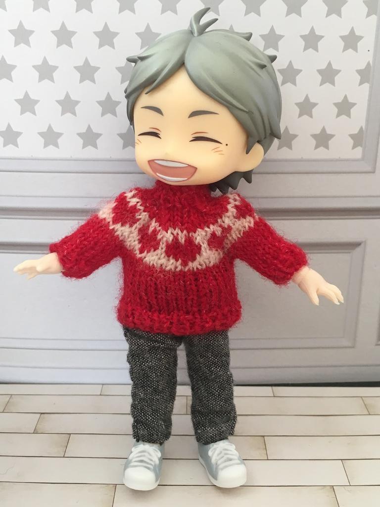 オビツ11サイズ ハートセーター