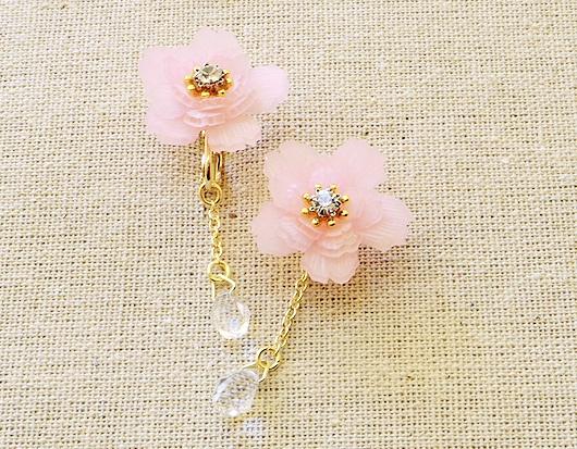 【八重桜のピアス】