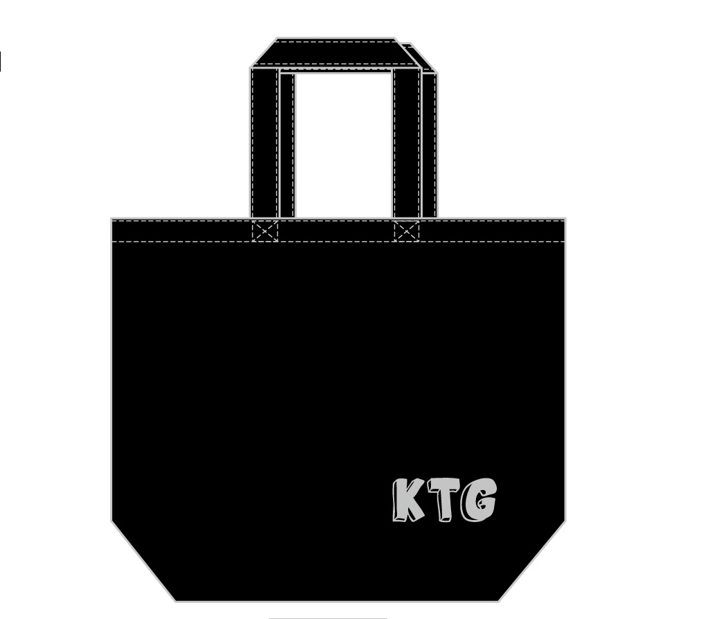 KTGオリジナルトートバッグ(黒)Lサイズ