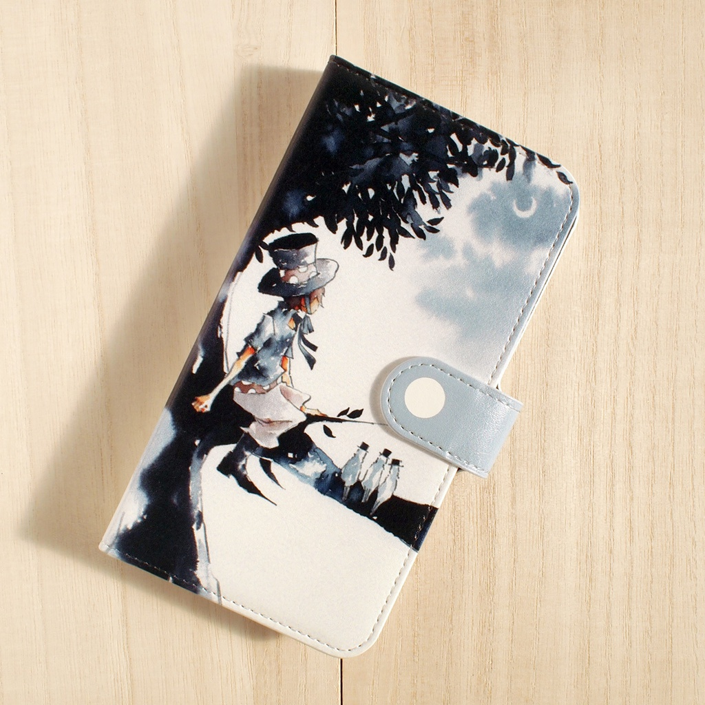 【iPhone/手帳型ケース】夕月