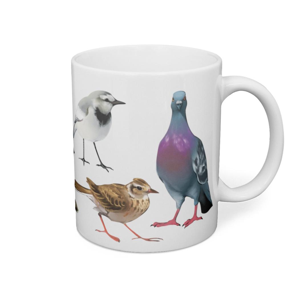 身近な野鳥マグカップ