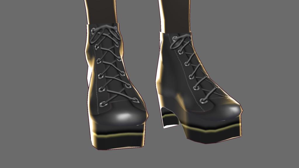 【VRoid用ショートブーツ】『ワンピース用テクスチャ』