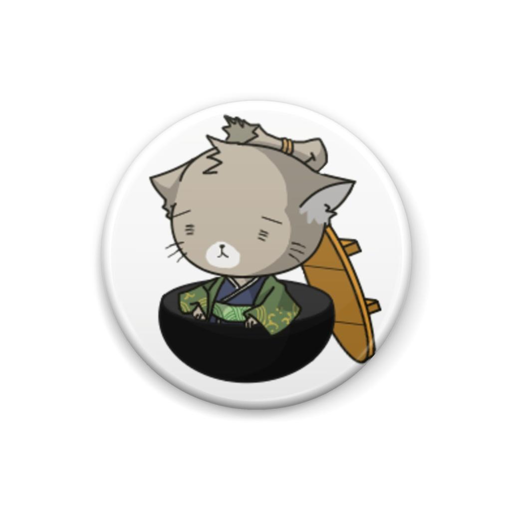 猫侍 缶バッジ