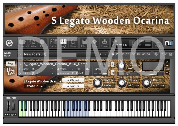 オカリナ音源 S Legato Wooden Ocarina for KONTAKT Free Demo - フリー音源