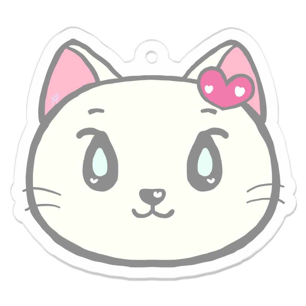 ネコのネピちゃんのアクリルキーホルダー