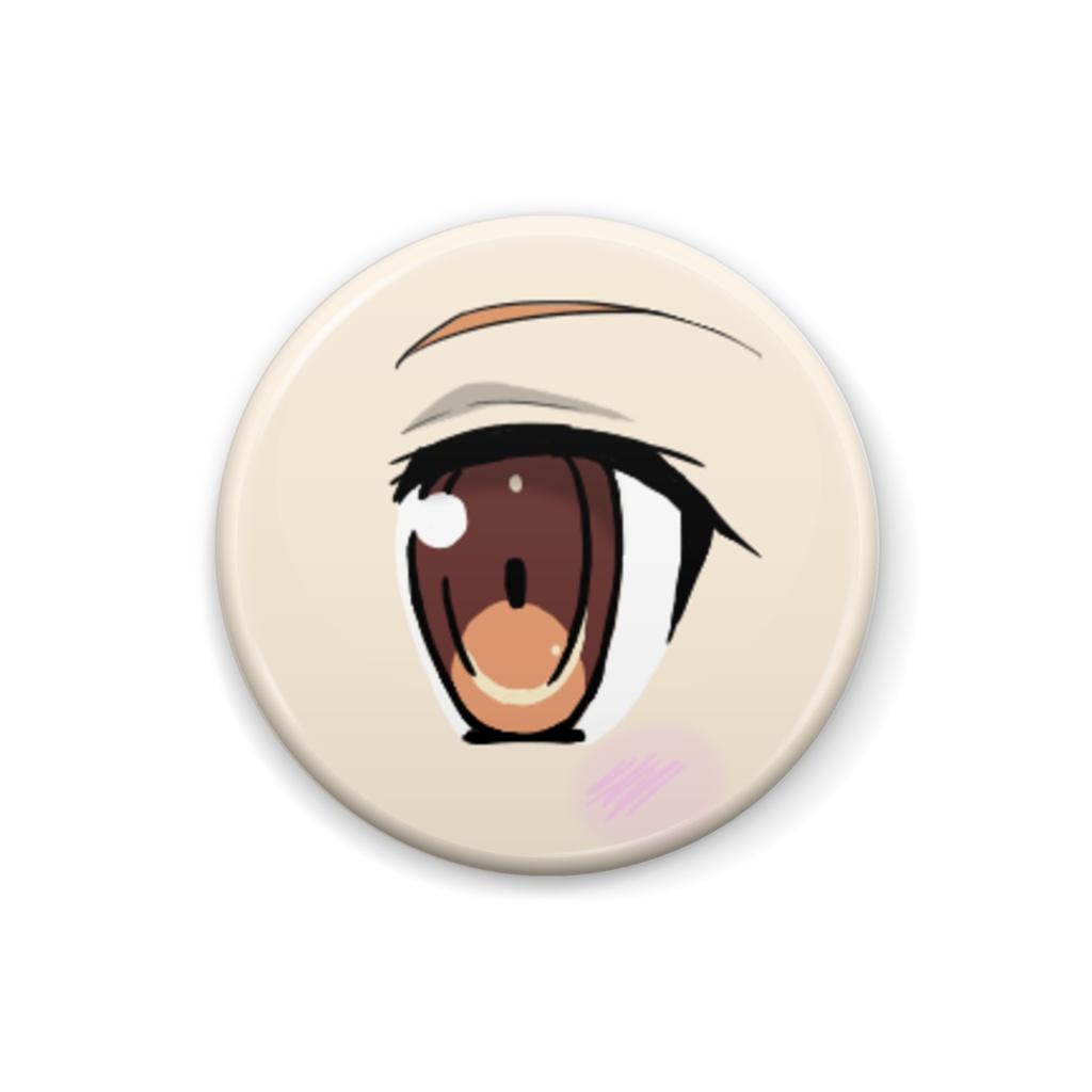 瞳缶バッチ