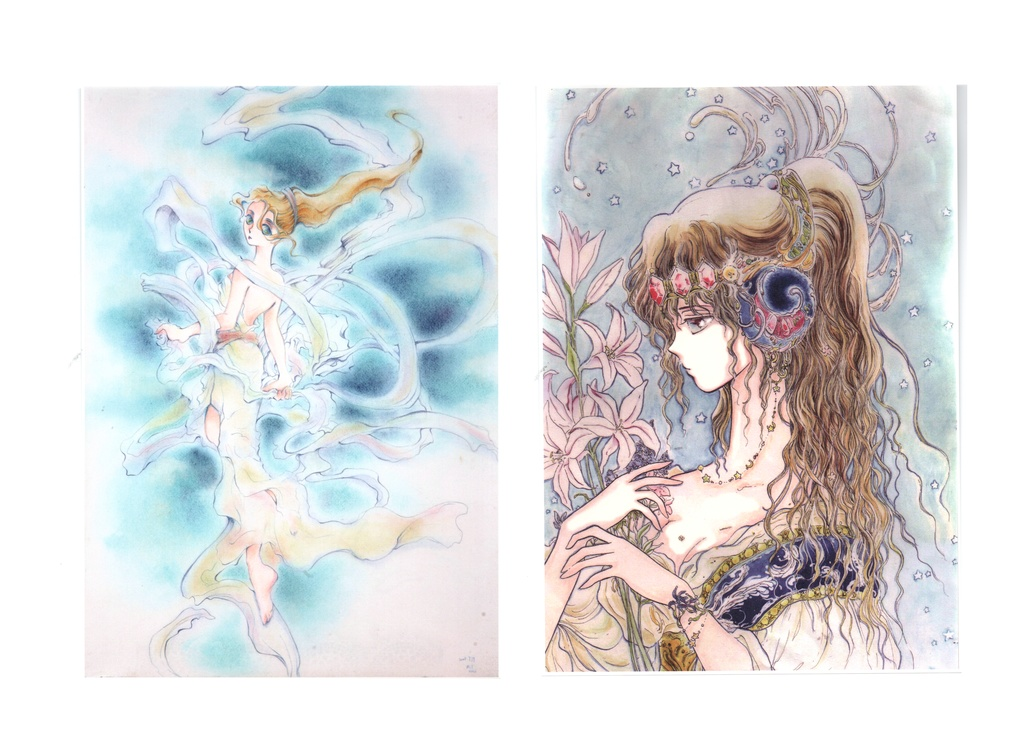 青の便箋(2種類)