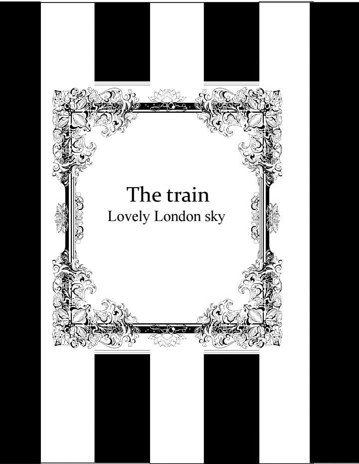 【黒執事 夢小説本】The train Lovely London Sky(あんしんBOOTHパック発送)