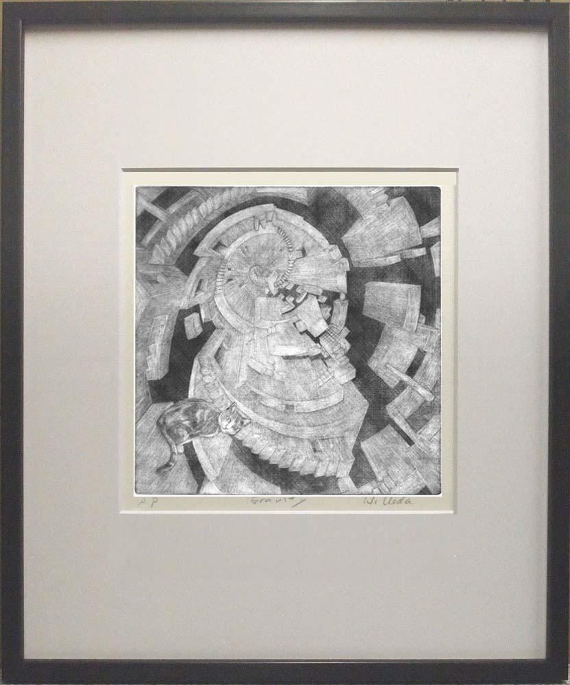 銅版画:キャットウォーク ダーウィン(進化の階段)
