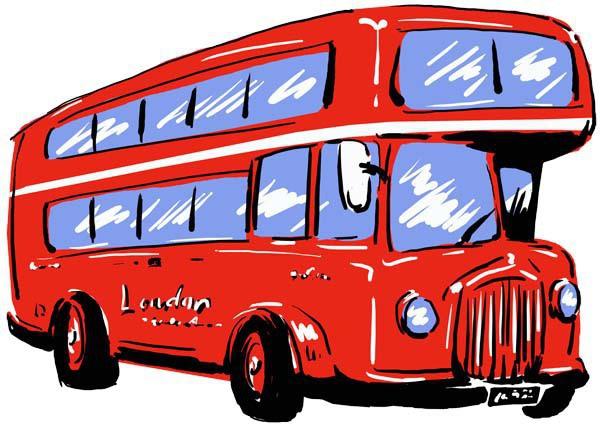 JPEGイラストデータ:ロンドンバス