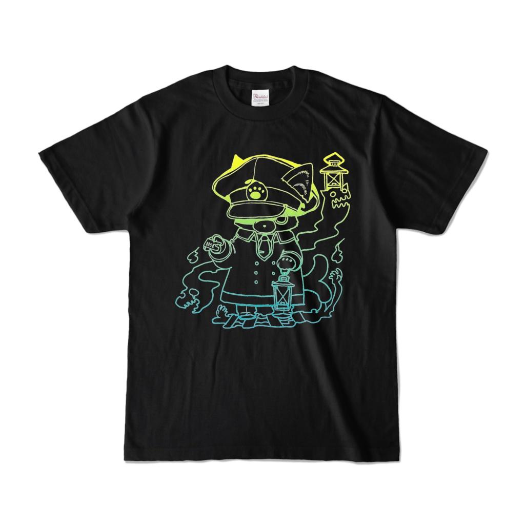 マイクラ肝試し2021Tシャツ【黒-線画】