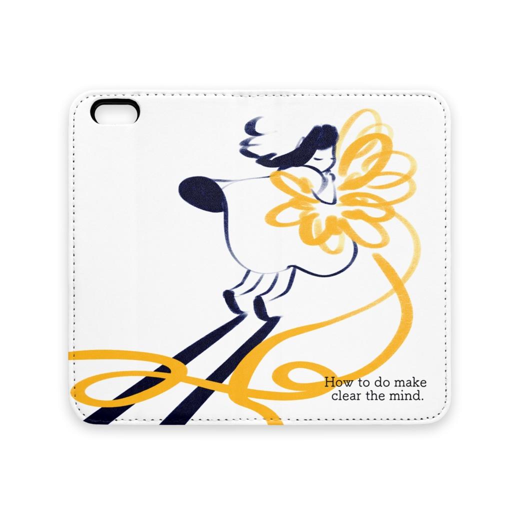 「黄色いリボン」手帳型iPhoneケース