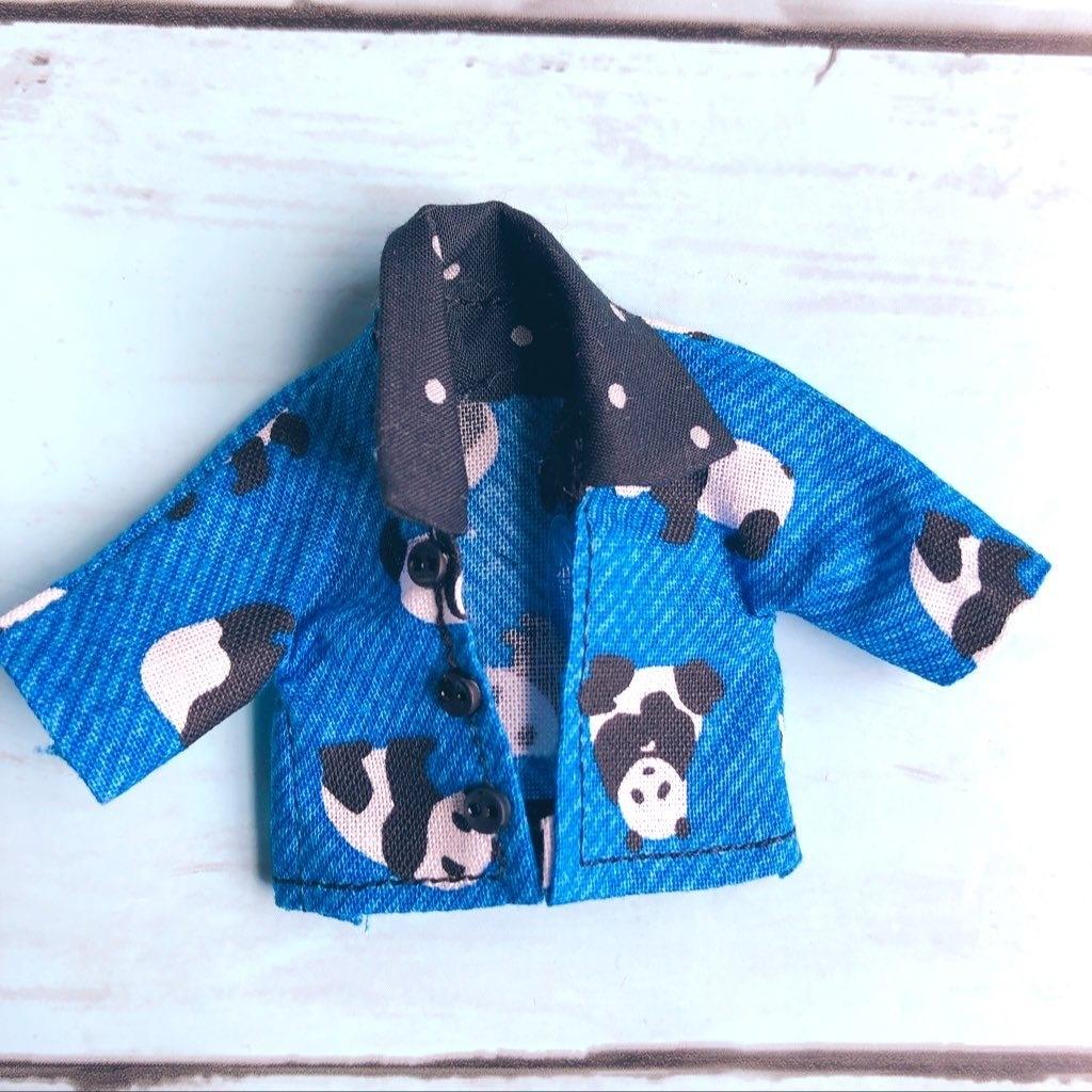 【シャツ】可愛い🐼パンダ柄シャツ オビツ11ねんどろいどどーる兼用