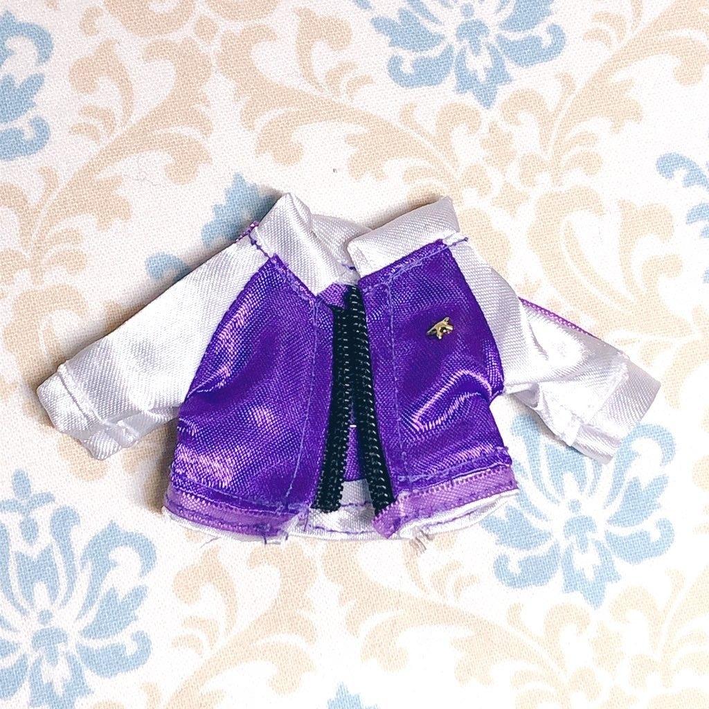 【ジャケット】💜紫✖️白のクールなジャケット オビツ11ねんどろいどどーるサイズ