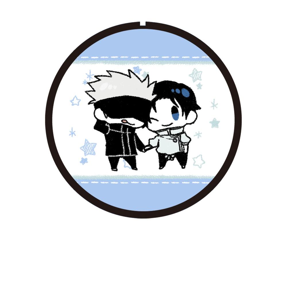呪術廻戦缶バッジ(ff) 五条、乙骨