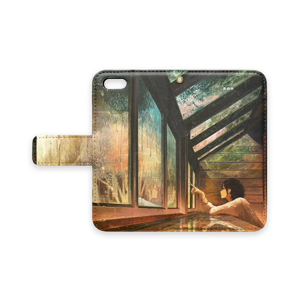 1f6609d732 ... 8 Plus / 7 Plus - ストラップ穴 あり. 「色の降る日」手帳型iPhoneケース