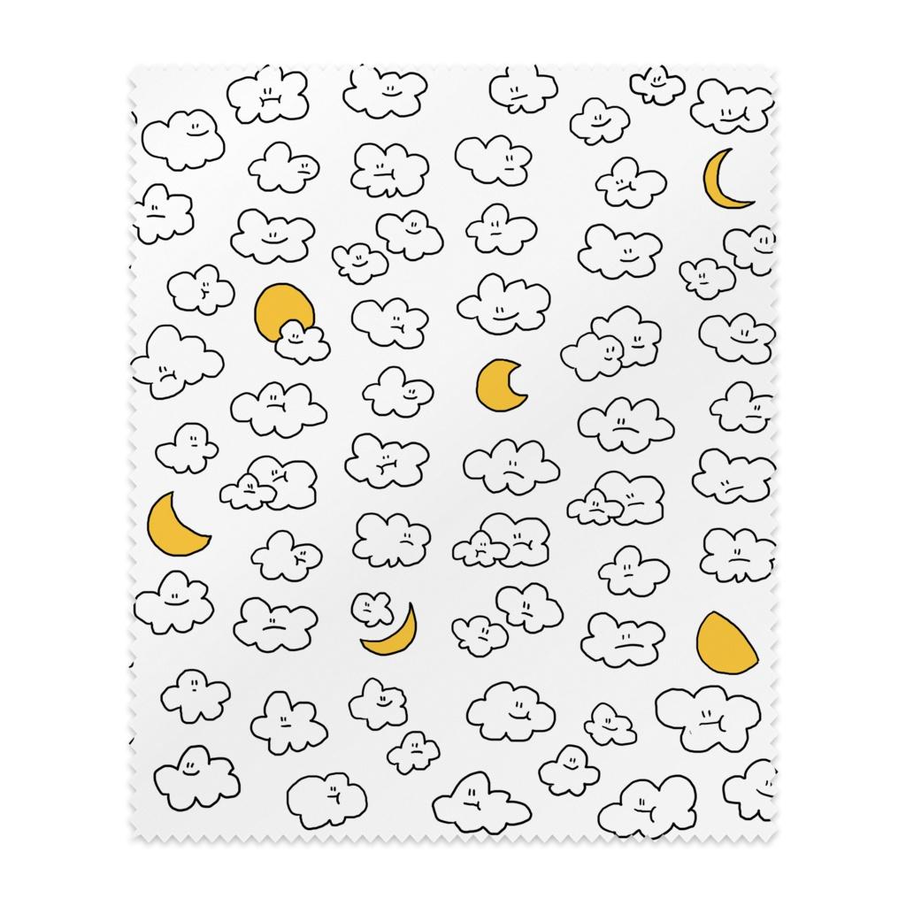 雲と月メガネ拭き