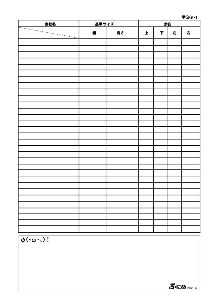 会社別演出フレームフォーマット表