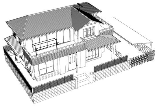 【lwo】一軒家3D素材