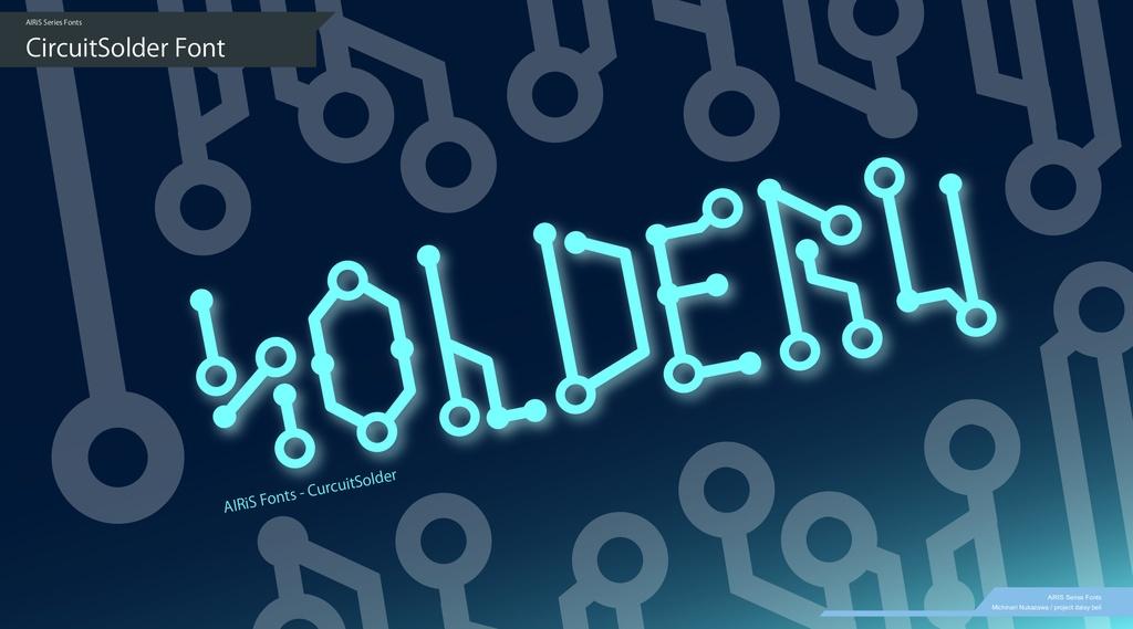 電子回路風 フリーフォント集 CircuitSolder シリーズ