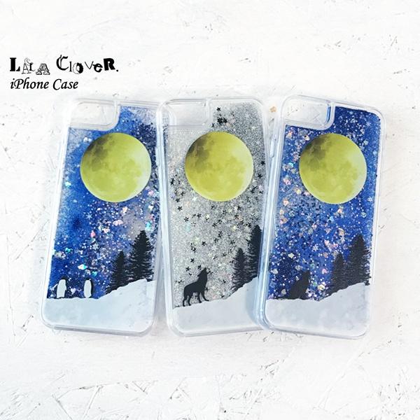満月の星空 iPhoneグリッターケース