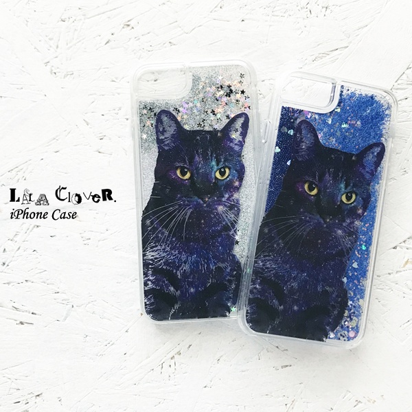 GALAXY CAT iPhoneグリッターケース