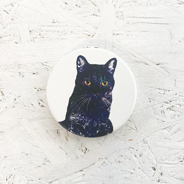 GALAXY CAT 折りたたみコンパクトミラー 手鏡