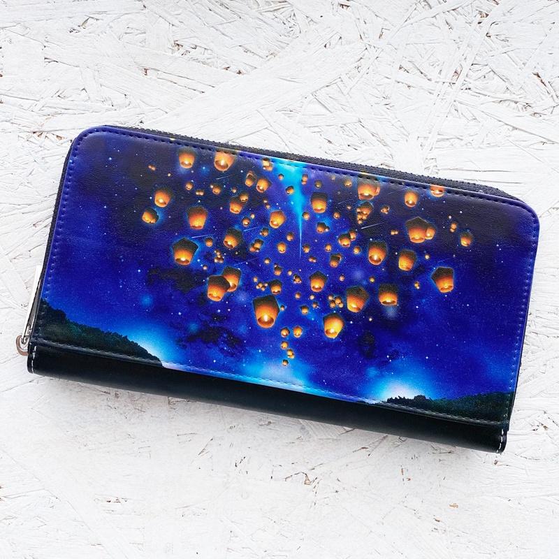 ランタンと星空 長財布