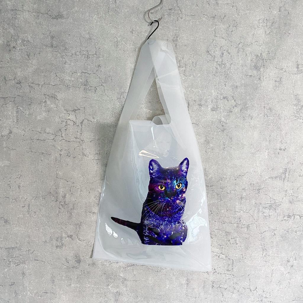GALAXY CAT エコバッグ PVC マルシェバッグ(乳白色)