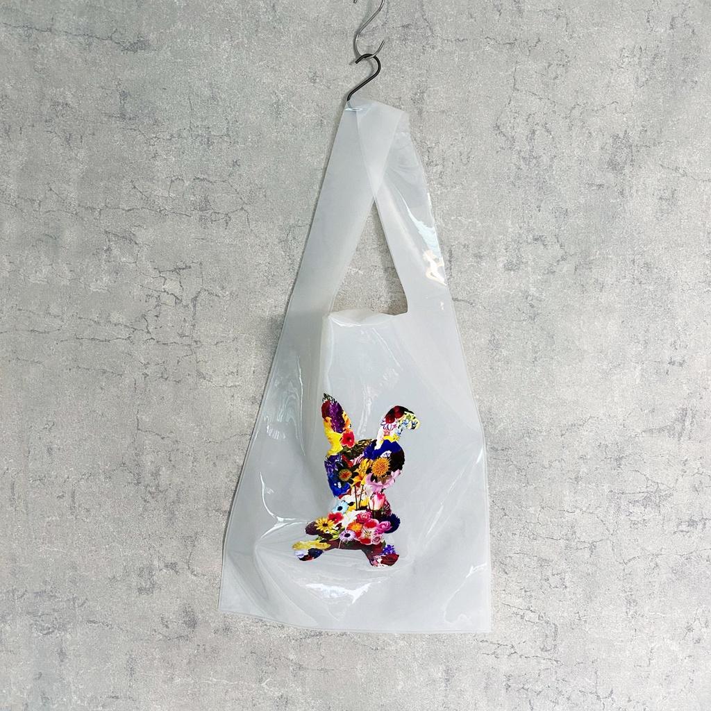FLOWER RABBIT PVC マルシェバッグ(乳白色)