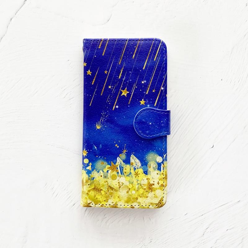 星降る夜 手帳型 iPhoneケース スマホケース