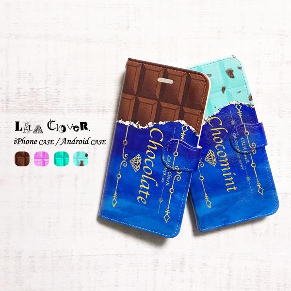 ☆チョコレート 手帳型 iPhoneケース スマホケース
