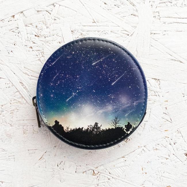流星 小銭入れ・小物入れ / 財布 コインケース 夜空 星空