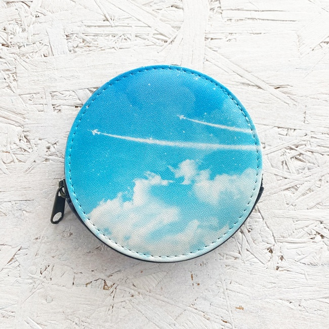 飛行機雲 小銭入れ・小物入れ / 財布 コインケース 空 青空
