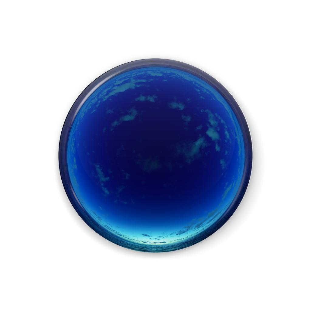 空の缶バッジ - C013