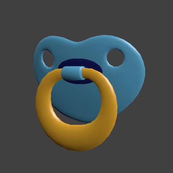 【ネタ装備】おしゃぶり 3Dデータ(blender/fbx)